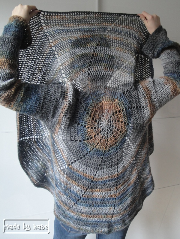 Schema uncinetto gratuito Cardigan Girandola – Made by Kate