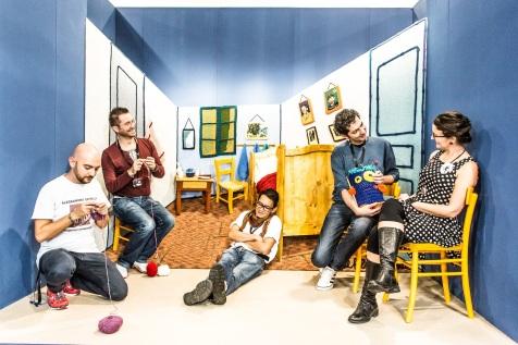 i Magliuomini nella stanza di Sul Filo dell'Arte