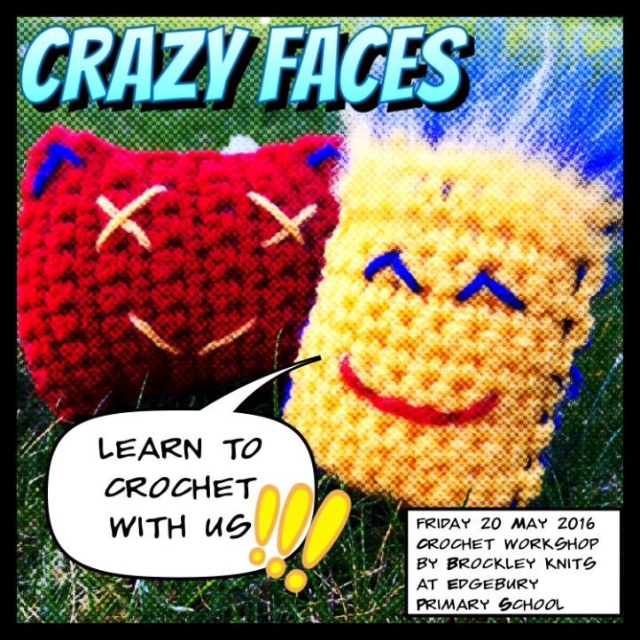 Crazy Faces Crochet uncinetto