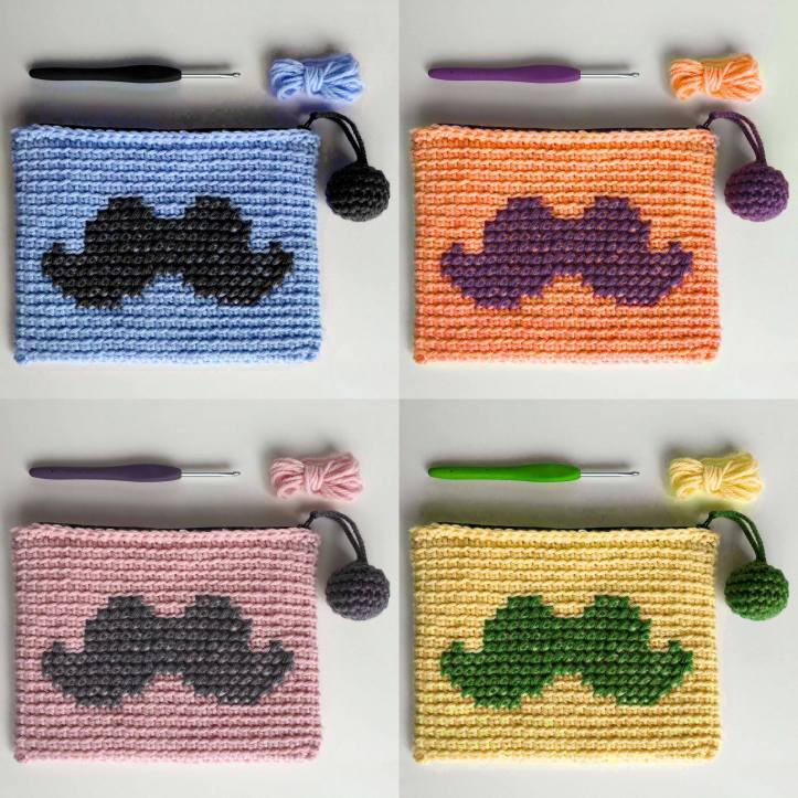 colori astuccio crochet