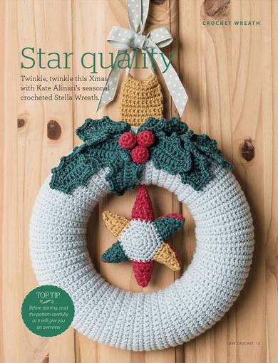 Stella Wreath La Ghirlanda Natalizia A Uncinetto Crochet
