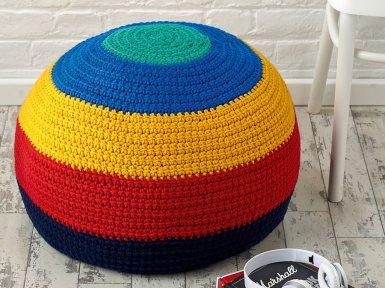kate alinari crochet pouffe