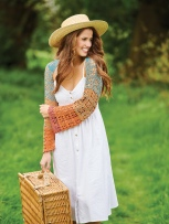 Crochet story shot with model Vitoria in park