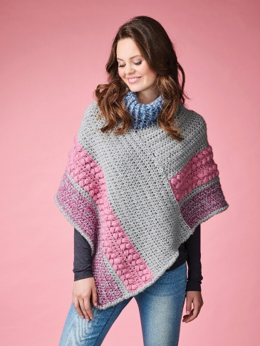 Crochet projects shot on model Morgan